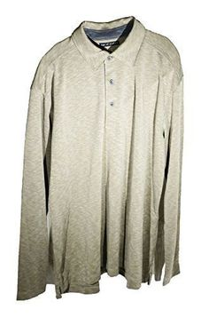 Age of Wisdom Mens Long Sleeve Polo Buttoned Shirt Heather Khaki Brown NEW #AgeofWisdom #PoloRugby