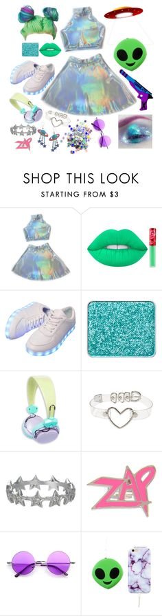 """Halloween: Alien"" by pixymae ❤ liked on Polyvore featuring Lime Crime, shu uemura, Zoe & Morgan and Retrò"