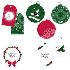 Les étiquettes de Noël à imprimer (le dernier lot !) - Vie de Miettes