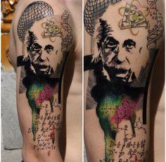 Einstein tattie #science #tattoo