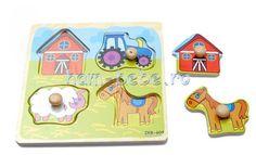 Set 4 mini puzzle din lemn cu maner Ham, Puzzle, Mini, Bebe, Puzzles, Hams, Riddles, Jigsaw Puzzles