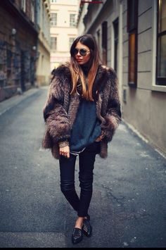 Winter fur coat