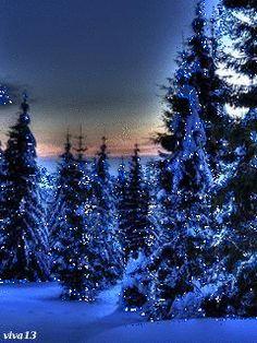 Зимний лес - анимация на телефон №1096420