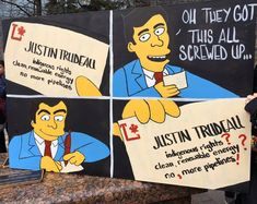 The Radical Leftorium: Where The Simpsons meets left-wing politics. False Advertising, Ending Story, Found Art, Justin Trudeau, World Pictures, Screwed Up, The Simpsons, Politics, Make It Yourself