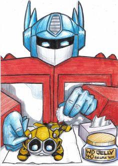 optimus prime and bumblebee love | Optimus & Bumblebee
