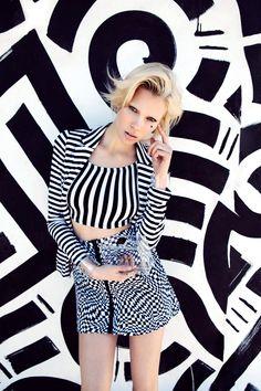 Different Strokes Blazer, Borderline Crop Top, Hypnotize Skirt