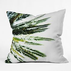 Chelsea Victoria Beverly Hills Palm Tree Throw Pillow | DENY Designs Home Accessories