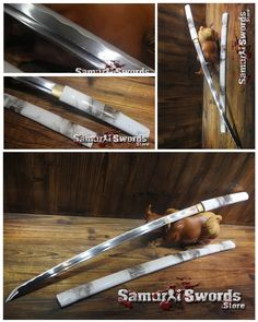1060 Carbon Steel Shirasaya Sword Full Tang And Fully Sharpened With Smoke Saya Izuku Midoriya Cosplay, Tatami Mat, Types Of Swords, Katana Swords, Japanese Sword, Muffin Cups, High Carbon Steel, Made Of Wood, Arrows