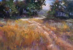 Golden Thread by LaVone Sterling Pastel ~ 9 x 12