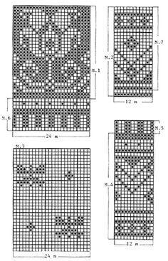 "DROPS jumper with flower border in ""Muskat Fair Isle Knitting Patterns, Knitting Charts, Loom Knitting, Free Knitting, Fair Isle Pattern, Knitting Stitches, Drops Design, Norwegian Knitting Designs, Pull Jacquard"