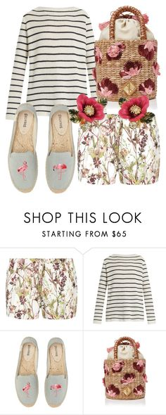 """Skip to My Lou"" by fashionforwarded ❤ liked on Polyvore featuring Haute Hippie, The Row, Soludos, Aranáz and Les Néréides"