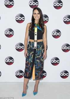 Vacation over: Saturday it was back to work on for Jordana Brewster at the Television Critics Association Winter Tour