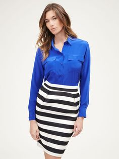 06a29dc6d1b Two Pocket Shirt by Zoe  amp  Sam on Gilt.com Stripe Skirt