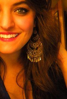 Love big earrings.