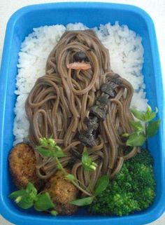 Soba noodles make up Chewbacca in this awesome Bento!- Little Passports #littlepassports #soba #bentobox