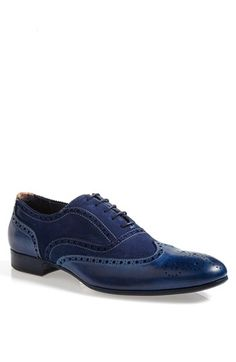 Up your mood... with this Paul Smith 'Miller' Spectator Shoe! The color blue is a great segue to infuse into your wardrobe.. #Nordstrom