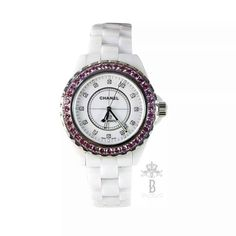 Chanel White Ceramic Pink Saphire Diamond J 12 Automatic Watch 42 MM .  Condition : brand new / year 2016 , with care booklet , box, extra wrist links , Chanel CD  Buy this beautiful watch directly from www.bagatelleboutique.com from today till 31st of December and you will get 10% discount !  Was AED 46,000 Now AED 41,400🛍🛍🛍 We deliver worldwide 🌍  #bagatellechanel #bagatelleboutique #bagatelle #holidays #watch #tistheseason #gift #mydubai #chanel #chanelwatch #cocochanel #authentic…