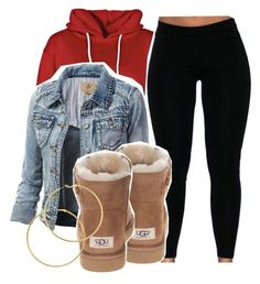 """""""."""" by asvptay ❤ liked on Polyvore featuring Boohoo, UGG Australia and Melissa Odabash"""