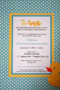 "Photo 1 of 22: Rubber Ducks / Baby Shower/Sip & See ""Mel's Baby Shower"" 