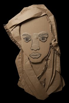 Black Aesthetic - Recycled Art/Corrugated Cardboard Kassa - By Ali Golzad