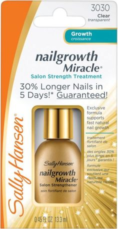 sally hansen nail growth miracle salon strength treatment