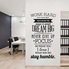 JiuBai®+Dream+Big+Quote+Inspiration+Wall+Sticker+Wall+Decal,+58*95CM+–+USD+$+28.99