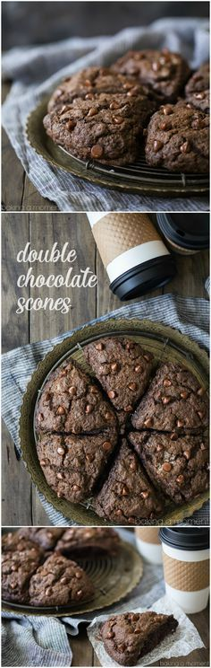 Craving a decadent treat for breakfast or brunch? Look no further than these double chocolate scones! Moist, cake-y, and so chocolate-y!