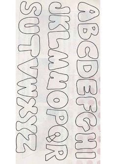 ABC - Letras do alfabeto para imprimir: 60 moldes do alfabeto lindos para baixar #abc - Como Faço Free Printable Letter Stencils, Alphabet Templates, Printable Letters, Lettering Styles, Block Lettering, Writing Fonts, Writing Skills, Abc Letra, Cross Stitch For Kids