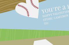 Fun Class Baseball Valentine Cards - Sweet! Valentines Day