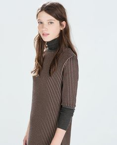 JACQUARD CHECK DRESS-Trf-Dresses-WOMAN | ZARA United States