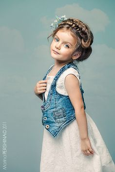 i love the hairstyle, this little russian girl is so pretty!! <3