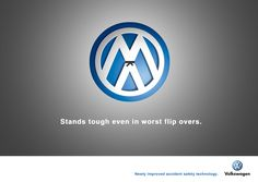 """Volkswagen Accident Safety Technology: """"Stands tough even in worst flip overs"""""""