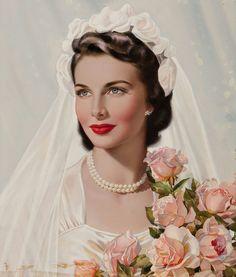 belles images pin-up Pin Up Vintage, Vintage Bridal, Vintage Beauty, Vintage Ladies, Vintage Woman, Vintage Weddings, Vintage Pictures, Vintage Images, Wedding Bride
