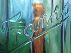 Sally Tharp | OIL | Frankly Speaking Reflection Art, Painting Gallery, Artist Painting, Oil On Canvas, Neon Signs, Fine Art, Sally, Artwork, House