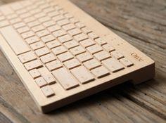 oree wooden wireless keyboard.