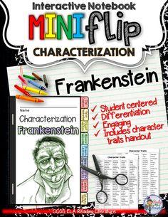 Frankenstein literature ela test essay questions entire novel frankenstein interactive notebook characterization mini flip fandeluxe Choice Image