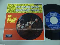 """THE ROLLING STONES everybody needs ~ French 45 tours SP 7"""" (Languette - BIEM)"""