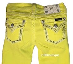 Miss Me Size 12 Girls / Kids Lemon Skinny Jeans JK5847S NWT #MissMe #SlimSkinny…