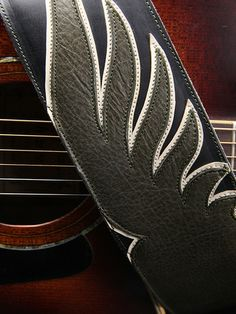 green wing leather guitar strap