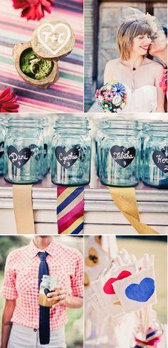Oh my gosh, the personalized mason jars. So cute! #wedding #mason #jar #jars #favors #reception #cocktail