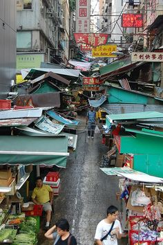 Street Market in Hong Kong by cn174, via Flickr