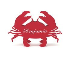 Crab place cards set of 30      BLANK TENT STYLE place cards come unfolded, they stand on their own. Simply fold them before your event.    The