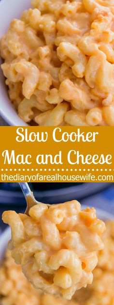 Slow Cooker Mac and Cheese. The easiest way to make mac and cheese for sure and so good!! I love this recipe.