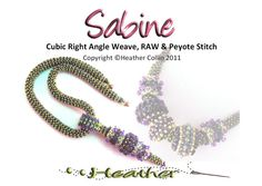 *P Cubic RAW  Rope  Necklace Beading Pattern Sabine by Studio183, $20.00