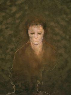 María Argüelles. L. Pastel sobre passepartout 30 x 30 cms