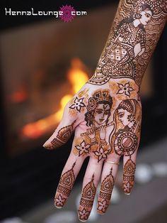 Radha and Krishna dulhan mehndi