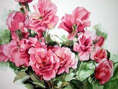 Floral Watercolor Paintings - Fine Art Blogger