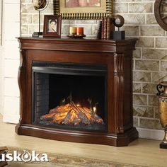 Electric Fireplaces On Pinterest Tv Above Fireplace