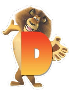 Lion letter D. Madagascar 2, Childrens Alphabet, Cute Alphabet, Carnival Birthday, 3rd Birthday, Diy And Crafts, Crafts For Kids, Jungle Party, Lion