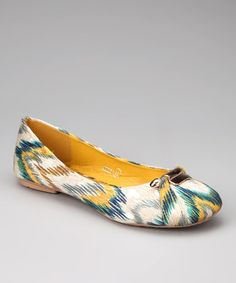 37717dc5474 Take a look at this Nicole Simpson Yellow Ikat Ballet Flat by Nicole  Simpson on  . Ballerina ShoesBallet ...